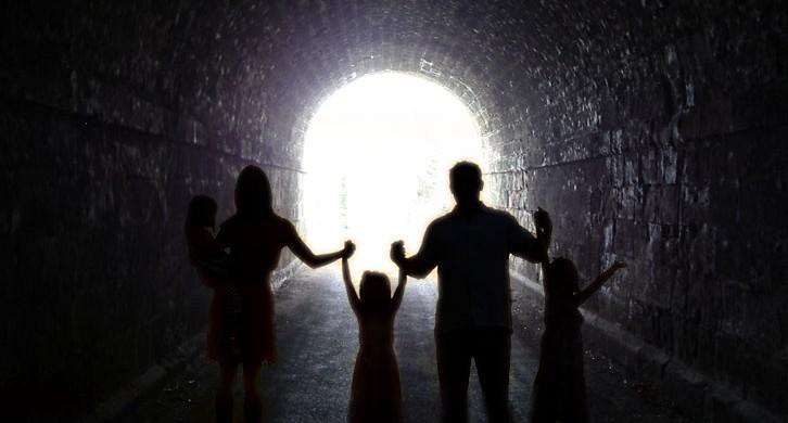 Има светилна в тунела